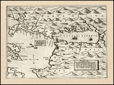 Balkans, Greece and Balearic Islands Map By Giovanni Francesco Camocio