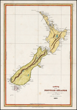 New Zealand Map By Jules Sebastian Cesar Dumont-D'Urville