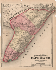 Mid-Atlantic Map By Comstock & Cline Beers