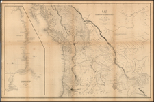 Rocky Mountains, Canada and California Map By Charles Wilkes