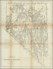 Southwest and California Map By General Land Office