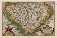 Czech Republic & Slovakia Map By Abraham Ortelius