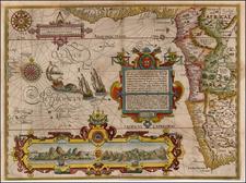 South Africa and West Africa Map By Jan Huygen Van Linschoten