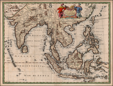 China, India, Southeast Asia, Philippines and Other Islands Map By John Speed