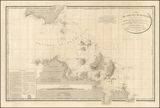 France and Sardinia Map By Depot de la Marine