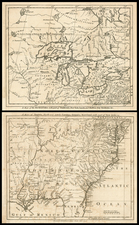United States, New England, Mid-Atlantic and Southeast Map By London Magazine