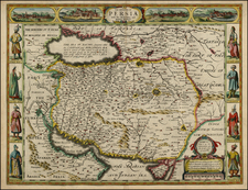 Central Asia & Caucasus, Middle East and Turkey & Asia Minor Map By John Speed