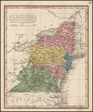 Mid-Atlantic and Southeast Map By Conrad Malte-Brun