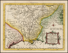 South, Southeast, Texas and Midwest Map By London Magazine
