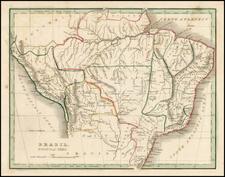 South America and Brazil Map By Thomas Gamaliel Bradford