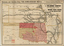 Plains Map By Woodward & Tiernan Printing Company / H.C. Townsend