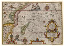 Africa, South Africa and East Africa Map By Jan Huygen Van Linschoten