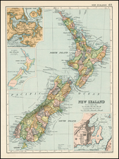New Zealand Map By Bacon & Co.