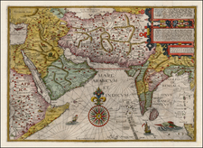 India, Central Asia & Caucasus and Middle East Map By Jan Huygen Van Linschoten