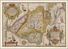 Polar Maps, Florida, South, Southeast, Caribbean, Central America, South America, Brazil and America Map By Jan Huygen Van Linschoten