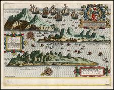Atlantic Ocean and African Islands, including Madagascar Map By Jan Huygen Van Linschoten