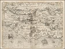 North Africa and West Africa Map By Giovanni Battista Ramusio / Giacomo Gastaldi