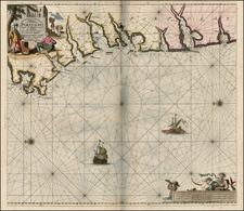 Spain and Portugal Map By Johannes Van Keulen