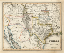 Texas, Plains, Southwest and Rocky Mountains Map By Joseph Meyer / Carl Radefeld