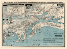California Map By Los Angeles Chamber of Commerce. Harbor Bond Campa