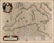 Balkans, Italy, Spain, Mediterranean and Balearic Islands Map By Jan Jansson