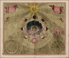 World, Celestial Maps and Curiosities Map By Andreas Cellarius