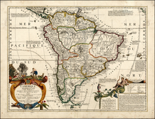 South America Map By Jean-Baptiste Nolin