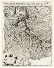 France and Italy Map By Giacomo Giovanni Rossi