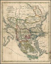 Balkans, Greece and Turkey Map By A. Baedeker / Otto Petri