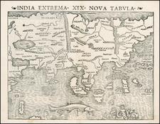 Asia Map By Sebastian Münster