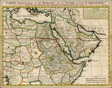 Middle East, Turkey & Asia Minor, Egypt and North Africa Map By Henri Chatelain