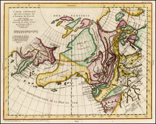 Polar Maps, Alaska and Canada Map By Denis Diderot / Gilles Robert de Vaugondy