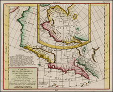 North America and California Map By Denis Diderot / Didier Robert de Vaugondy