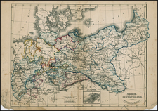 Germany, Poland, Czech Republic & Slovakia and Baltic Countries Map By A. Baedeker / Otto Petri