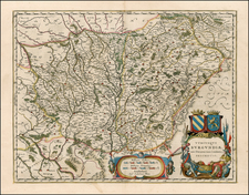 France Map By Willem Janszoon Blaeu