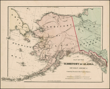 Alaska and Canada Map By O.W. Gray