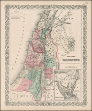 Holy Land Map By G.W.  & C.B. Colton