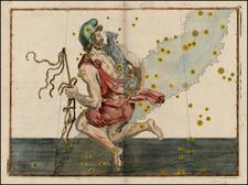 Curiosities and Celestial Maps Map By Johann Bayer