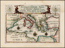 Mediterranean Map By Gabriel Bodenehr