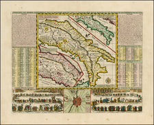 Italy Map By Henri Chatelain