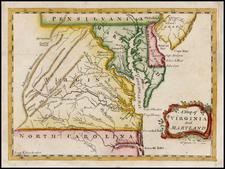Mid-Atlantic and Southeast Map By Thomas Jefferys