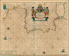 Spain and Portugal Map By Pieter Goos