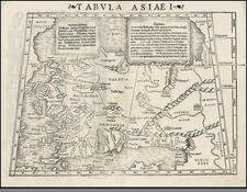 Turkey, Balearic Islands, Holy Land and Turkey & Asia Minor Map By Sebastian Munster