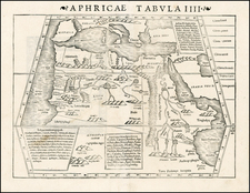 North Africa Map By Sebastian Munster