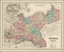 Germany, Poland and Baltic Countries Map By Joseph Hutchins Colton