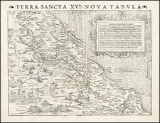 Holy Land Map By Sebastian Münster