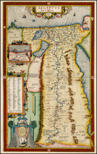 Middle East and North Africa Map By Abraham Ortelius