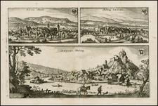Switzerland Map By Matthaus Merian