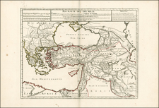 Europe, Ukraine, Turkey, Central Asia & Caucasus, Holy Land, Turkey & Asia Minor, North Africa, Balearic Islands and Greece Map By Philippe Buache