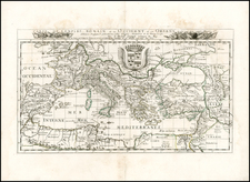 Europe, Italy and Mediterranean Map By Pierre Du Val